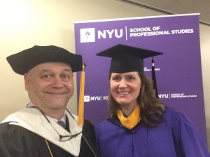 Fred with former student, NYU faculty colleague, and Logos Senior Advisor Kristin Johnson.