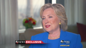 Hillary Rodham Clinton apologizing for her email scandal